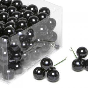 Glob sticla negru lucios 2,5cm S/144