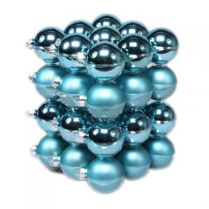 Glob de sticla albastru lucios 5,7cm S/36