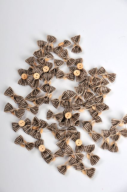 Papion textil natur 2.5cm 100/S
