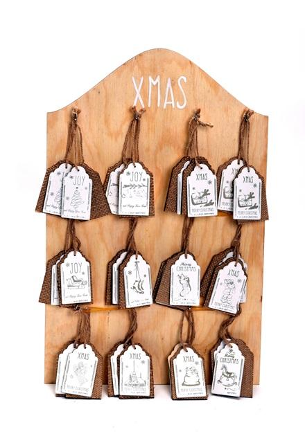 Ornamente lemn suspendat 29.5x0.7x45.5cm natur