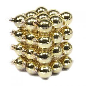Glob sticla auriu lucios 4cm S/36