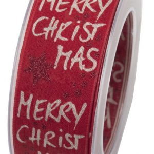 """Panglica textil """"Merry Christmas"""" 40mmx10m"""