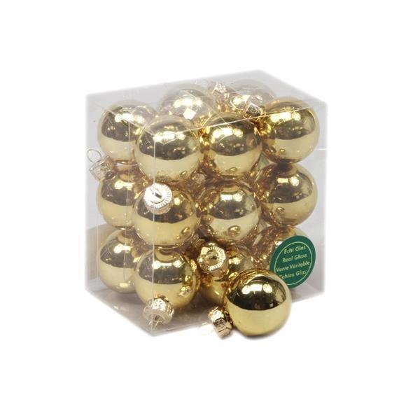 Glob sticla auriu lucios 3cm S/18