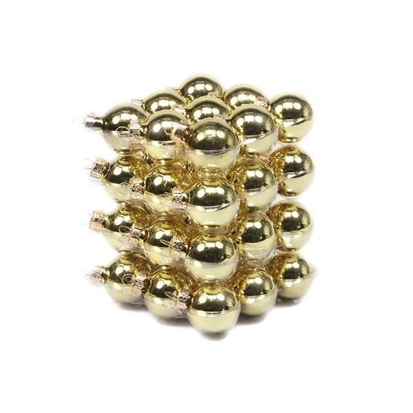 Glob sticla auriu lucios 5.7cm S/36