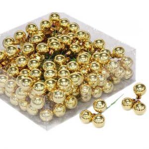 Glob sticla auriu lucios 2cm S/144