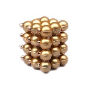 Glob sticla auriu mat 4cm S/36