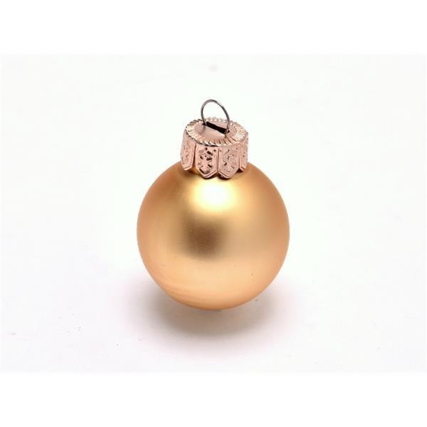 Glob sticla auriu mat 2.5cm S/144