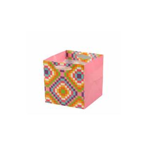Punga CUBI roz 10,5 x 10,5 x 10,5 cm