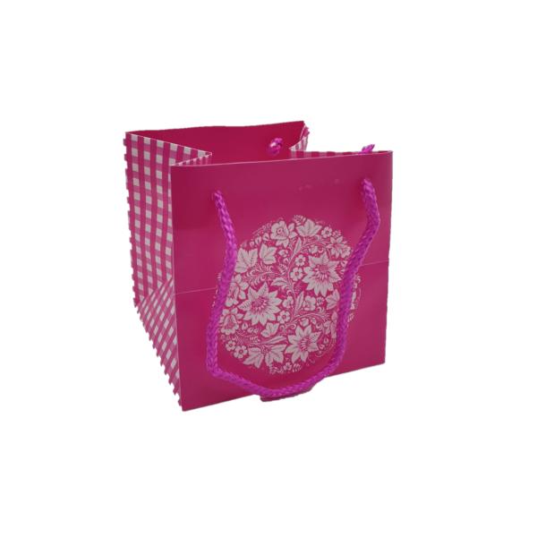 Punga Rustic roz 10,5 x 10,5 x 10,5 cm