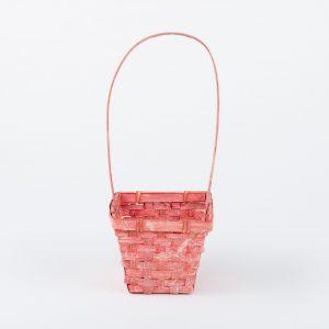 Cos florentin patrat rosu 12.5×12.5×H10/30
