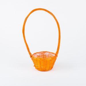 Cos florentin portocaliu rotund cu toarta D25*H13/50