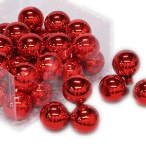 Glob sticla 4cm rosu lucios S/36