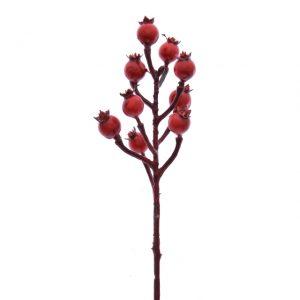 Fructe de padure rosii 30 cm 10/set