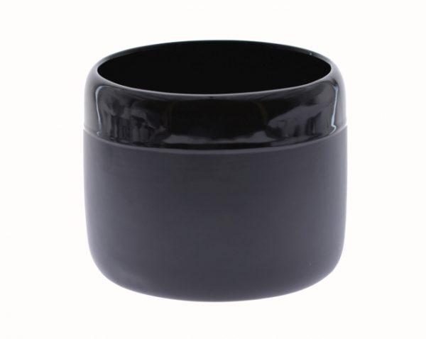Vaza ceramica rotunda Neagra mat-lucios