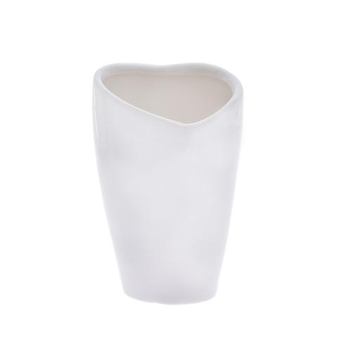 Vaza ceramica alba in forma de inima