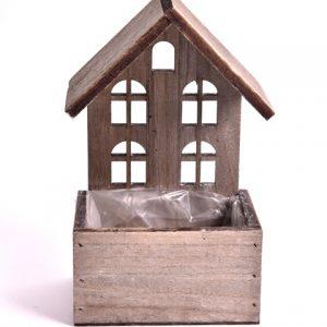 Cutie tip casuta din lemn