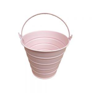 Galetusa pentru gradina, Galetusa din tabla cu toarta roz D12 cm