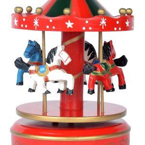 Carusel muzical cu 4 caluti Rosu 17*11cm