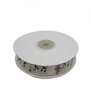 Rola textil note muzicale 2cm/50yards