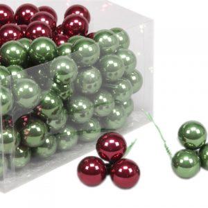 Glob sticla 2.5 cm verde-visiniu 144 buc/set