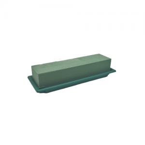 Tavita MEDIE plastic verde 25.5x9x5.5h
