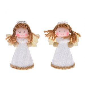 Decoratiune model inger textil alb 8 cm, Decor pentru copiii