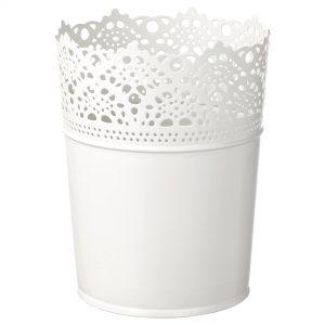 Ghiveci tabla alb model dantela 10.5