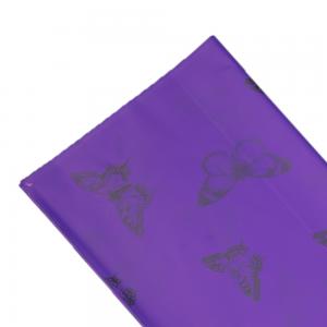 Folie celofan perlata fluturi mov