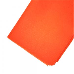 Set 20 coli fizelina pentru flori, model tapet cu stelute, orange
