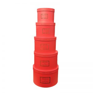 Cutii rotunde rosii D32 H21 5/set