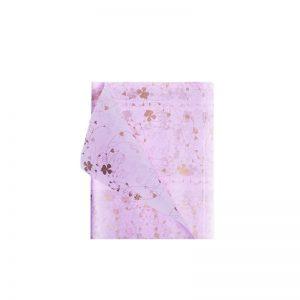 Hartie cerata roz cu imprimeu frunze