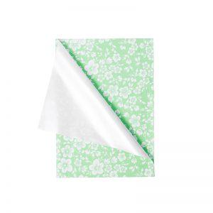 Folie ambalaj celofan perlat flori verde