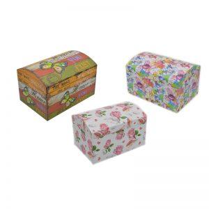 Cutii dreptunghiulare model cufar, Cutii pentru cadou