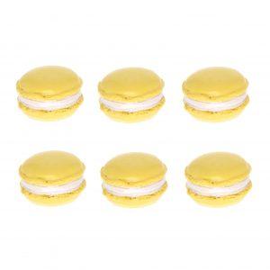 Decoratiuni macarons galben