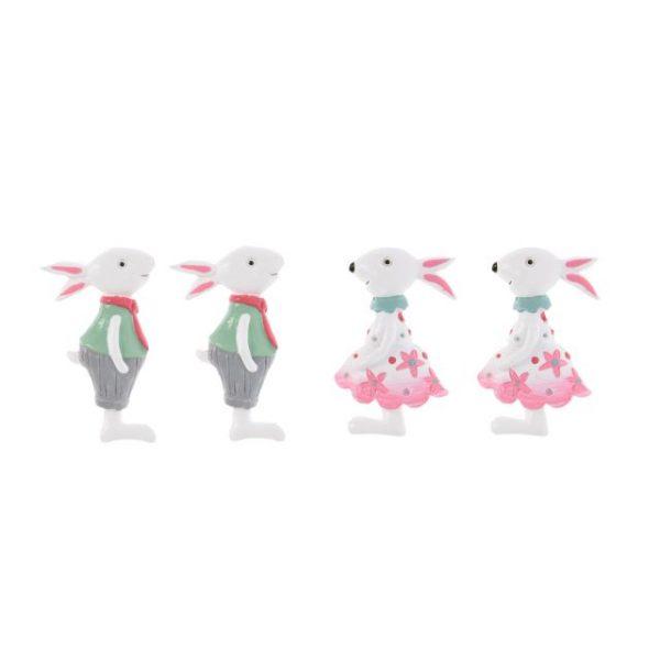 Decoratiune iepure autoadeziv multicolor polirasina, Decoratiune pentru gradina