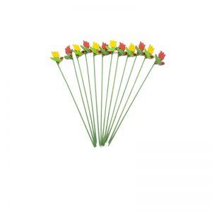 Floare din lemn pe bat, Figurina decorativa