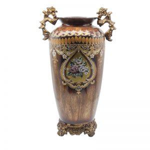 Amfora cu model traditional din ceramica, vas ceramic