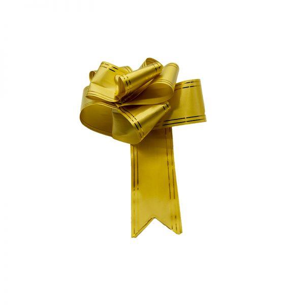 Funda rapida lata cu galben auriu, Panglica decorativa, Funda pentru cadouri
