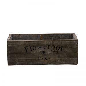 Cutie din lemn decorativa, cutie gri inchis