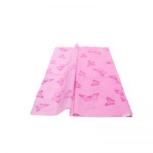 Folie perlata celofan roz fluturi