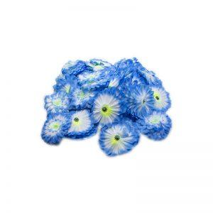 Flori capete diverse albastru alb