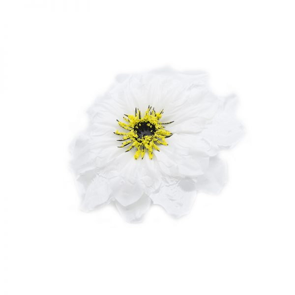 Flori capete diverse alb