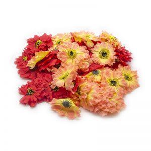 Flori capete diverse rosu si roz