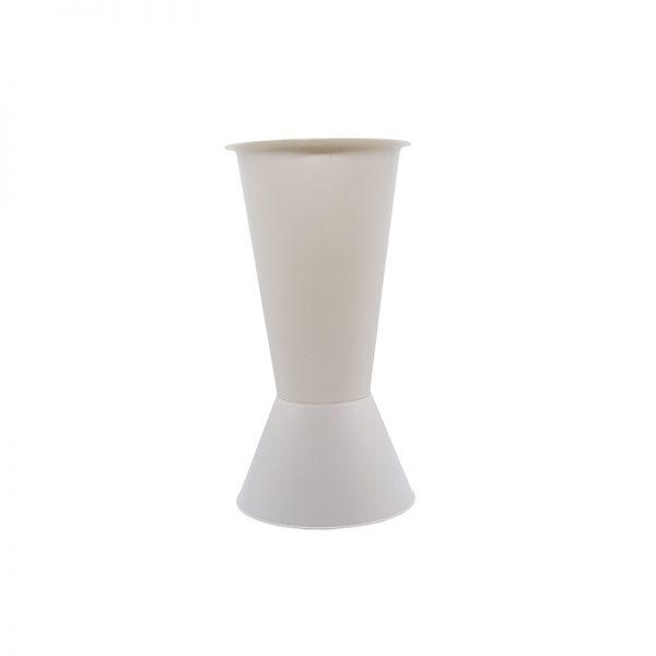Vaza plastic alba medie, vaza pentru flori