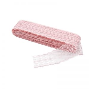 Dantela sintetica roz, Dantela pentru flori
