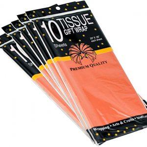 Set 10 coli hartie de matase 66x50 cm, orange