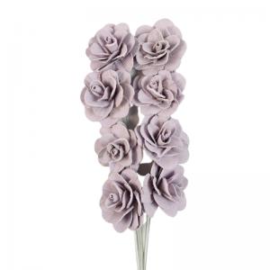 Buchet acacia uscat cu floare de 6cm, lila