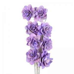 Buchet acacia uscat cu floare de 6cm mov