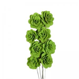 Buchet acacia uscat cu floare de 6cm, verde pal