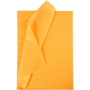 Set 20 coli hartie de matase, 50x75 cm, galben